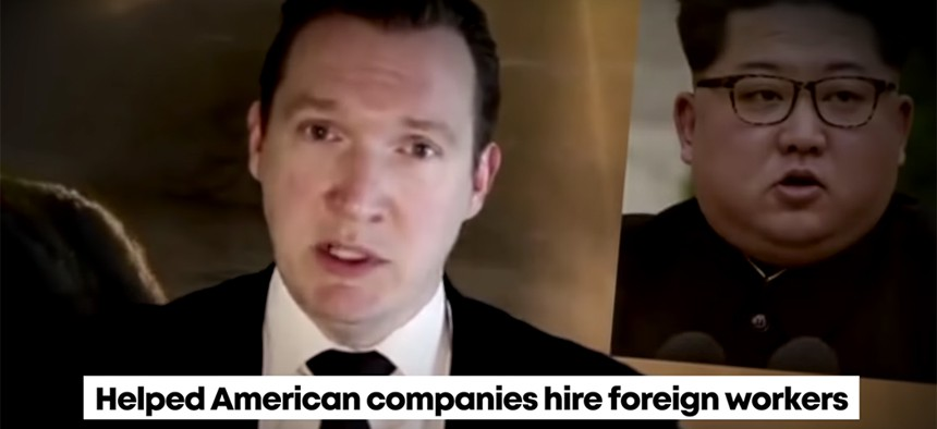 A Chris Collins campaign ad featuring Nate McMurray and Kim Jong Un.