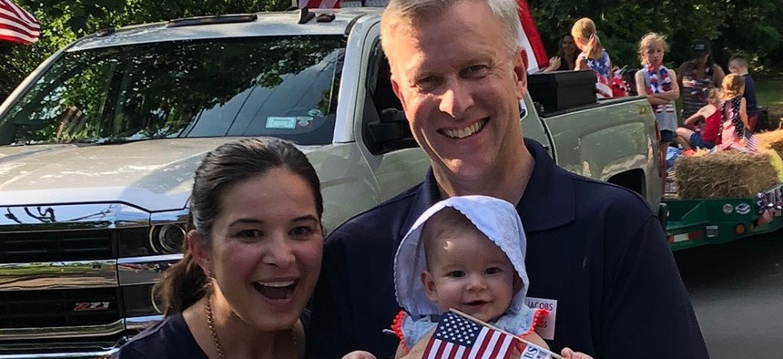 State Sen. Chris Jacobs with his family.