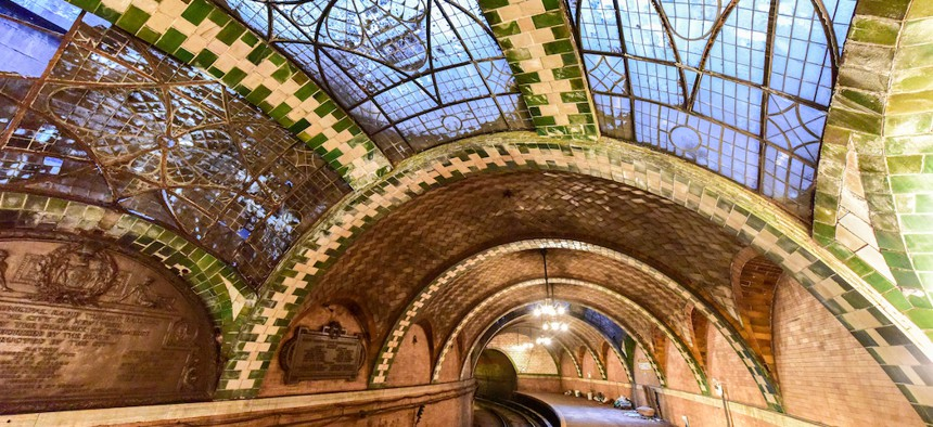 The abandoned City Hall subway station in Manhattan. Lobbyists are known to have influence in places of power, but who are they really?