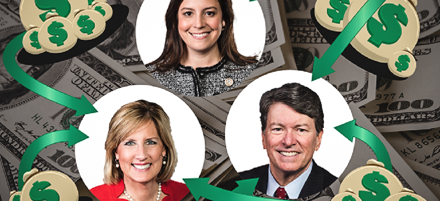 New York congressional candidates John Faso, Claudia Tenney, and Elise Stefanik swimming in cash