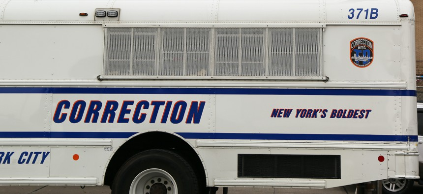 A New York City corrections bus.