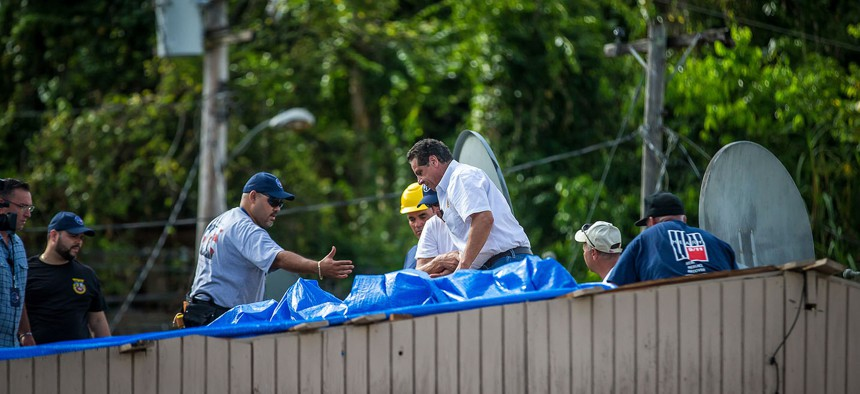 Governor Cuomo and Delegation join SUNY and CUNY Students and Labor Volunteers to Rebuild Homes in Puerto Rico.
