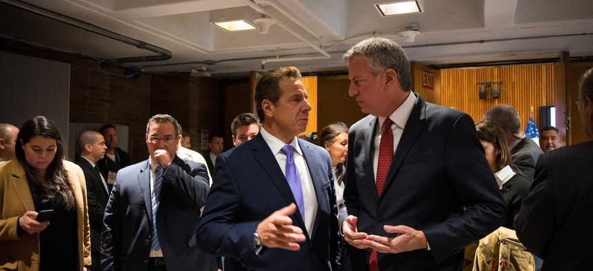 Cuomo often shoots de Blasio down, and then implements the policy himself.