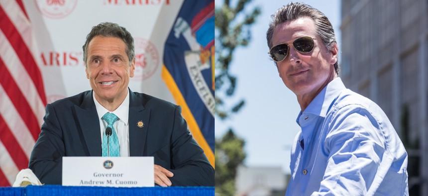Governor Cuomo and California Governor Gavin Newsom