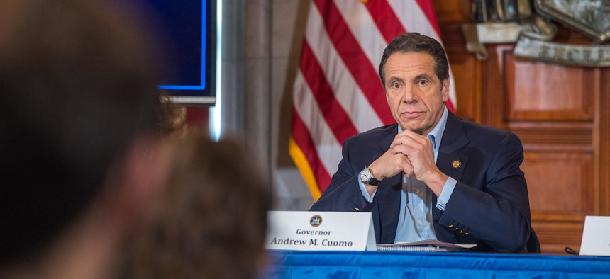 Cuomo has required lawmakers to stay in Albany during the coronavirus crisis.