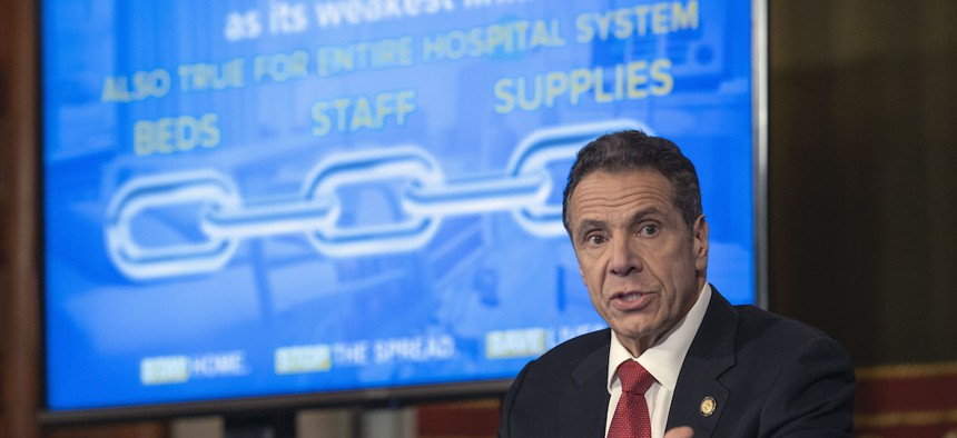 Governor Cuomo during his coronavirus update on April 2nd.
