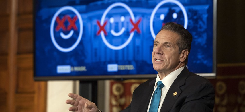 Governor Cuomo's powerpoint mocking the Federal Government's COVID response.
