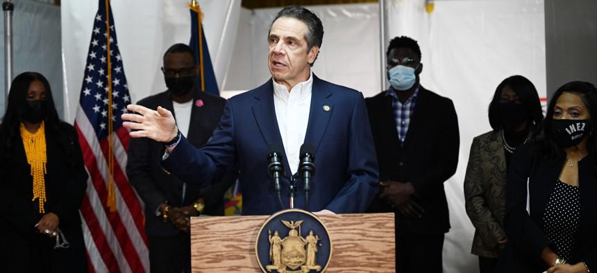 Governor Cuomo on March 17, 2021.