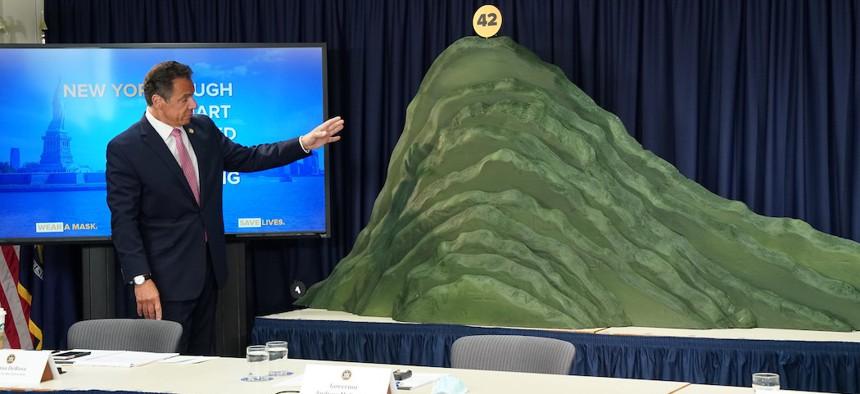 Governor Cuomo unveils COVID mountain.