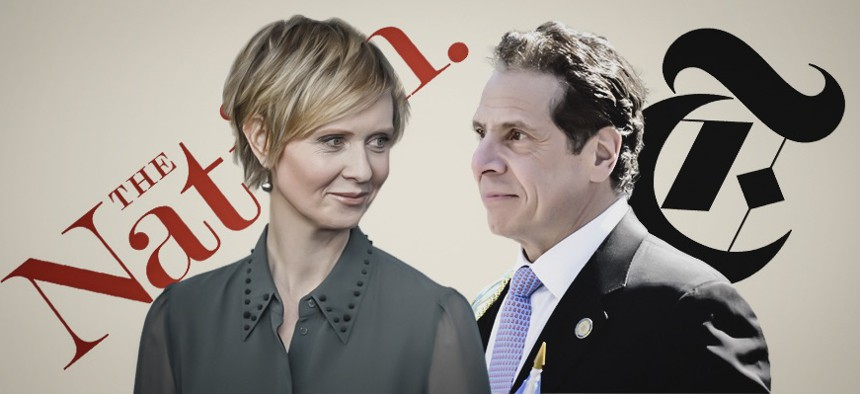 The Nation endorsed Cynthia Nixon, while The New York Times backed Andrew Cuomo