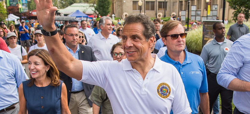 Gov. Andrew Cuomo at the New York State Fair.