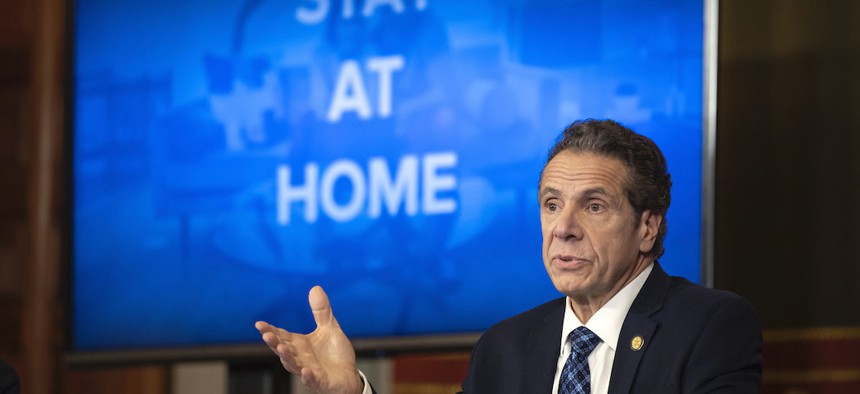 Governor Cuomo on March 31st during one of his coronavirus updates.