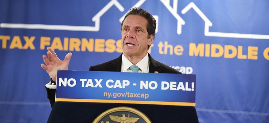 """Gov. Andrew Cuomo has launched a """"No Tax Cap – No Deal"""" campaign to make the property tax cap permanent in the state."""