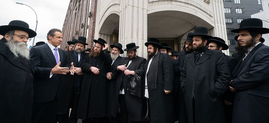 Gov. Andrew Cuomo visited an Orthodox Jewish neighborhood in Williamsburg to show support for the Jewish community in the wake of a rise in anti-Semitic attacks on New Year's day.