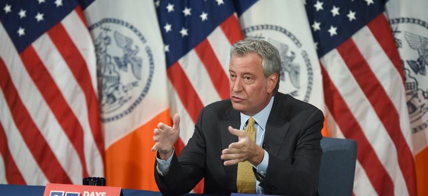 Mayor Bill de Blasio on September 23rd.