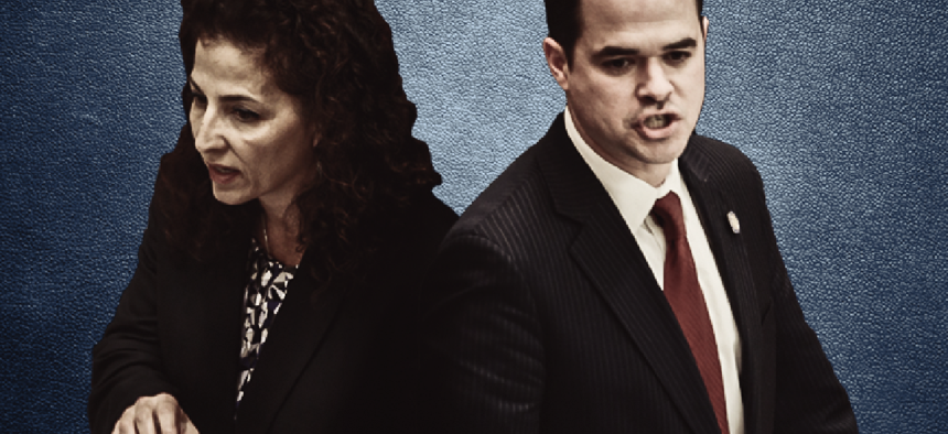 New York State Senators Diane Savino and David Carlucci