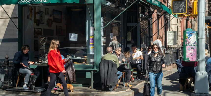 Outdoor dining in NYC