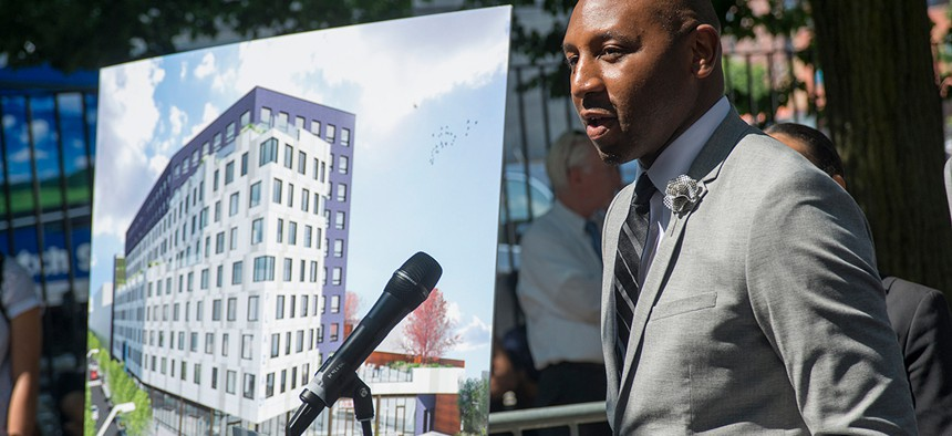 New York City Councilman Donovan Richards announces over 200 units of affordable housing - along with new retail and community space in Far Rockaway.