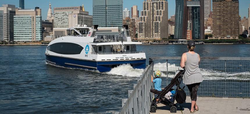 The New York City ferry.