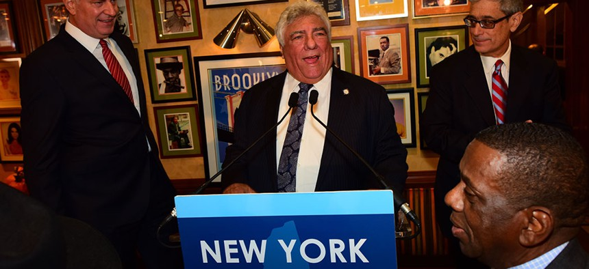 Frank Seddio, the chairman of Brooklyn's Democratic Party.