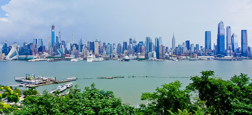 A view of the west side of Manhattan.
