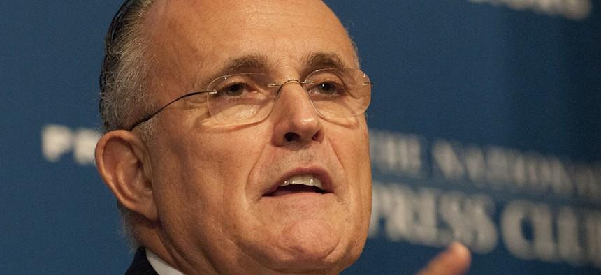 Rudy Giuliani in Washington D.C.