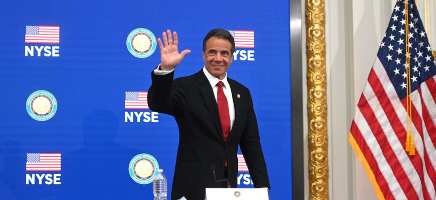 Governor Cuomo at the New York Stock Exchange on May 26, 2020.