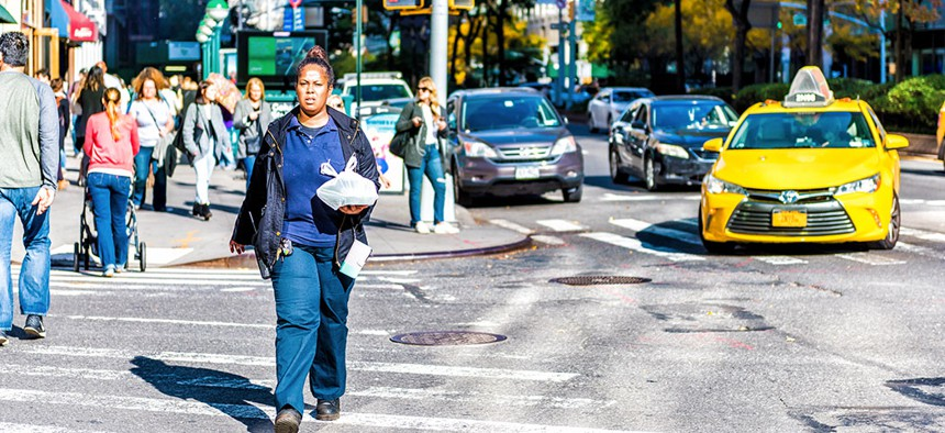 Jaywalking is not a rare occurrence in New York City.