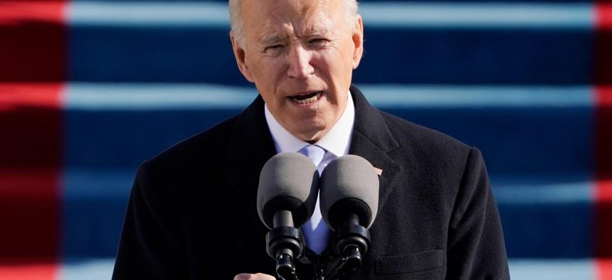 President Biden during his inauguration on Jan. 20.