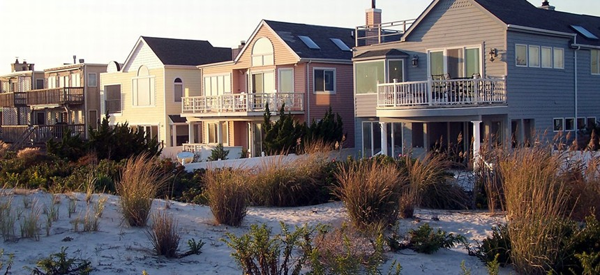 Homes on Long Island, New York.