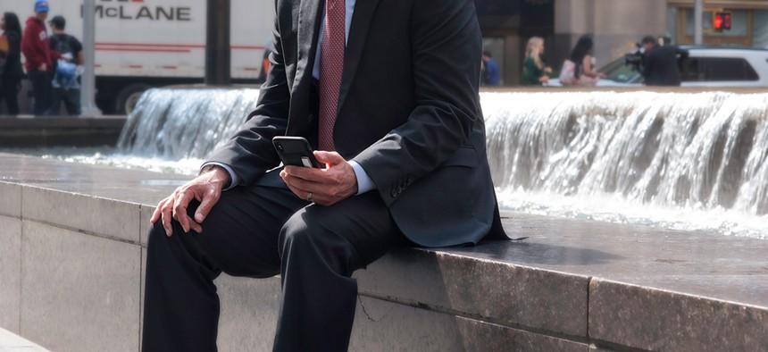 Marcus Molinaro in Rockefeller Center