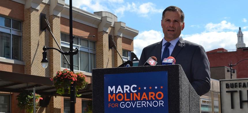 Marc Molinaro campaigns in Buffalo.