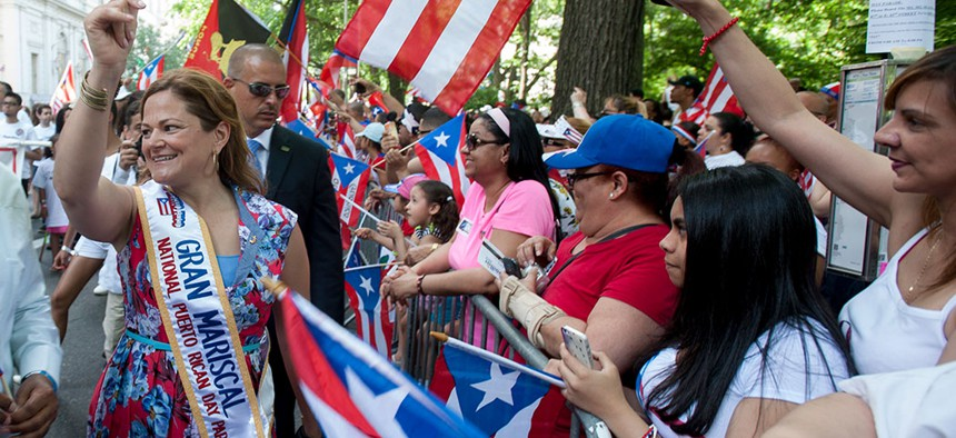 Former New York City Speaker Melissa Mark-Viverito at the Puerto Rican Day Parade in 2014.
