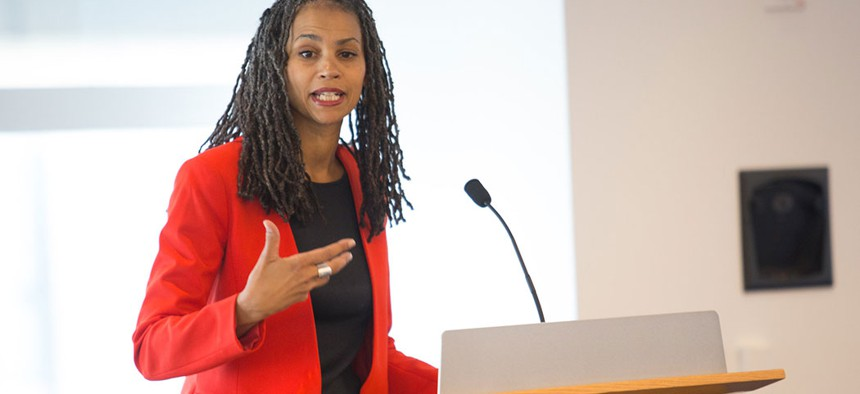 Attorney, political commentator, and now mayoral candidate Maya Wiley.