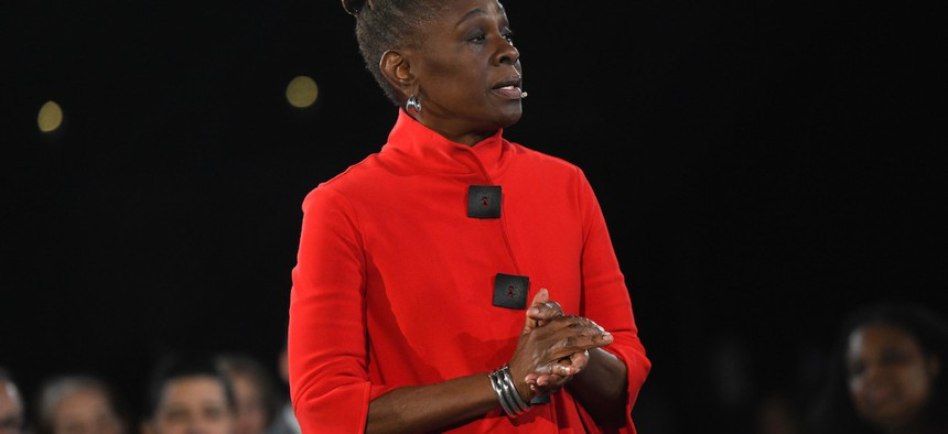 First Lady Chirlane McCray at the 2020 State of the City.