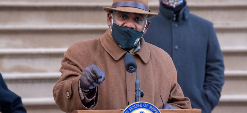 Rep. Gregory Meeks, chair of the Queens Democratic Party