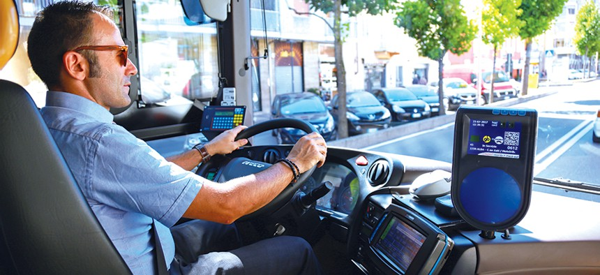 MTA Bus Driver in the driver's seat