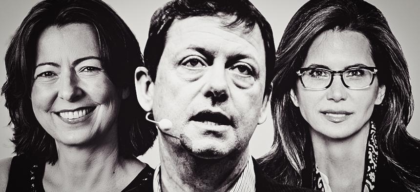 Jelena Kovacenic, Fred Wilson and Desiree Gruber.