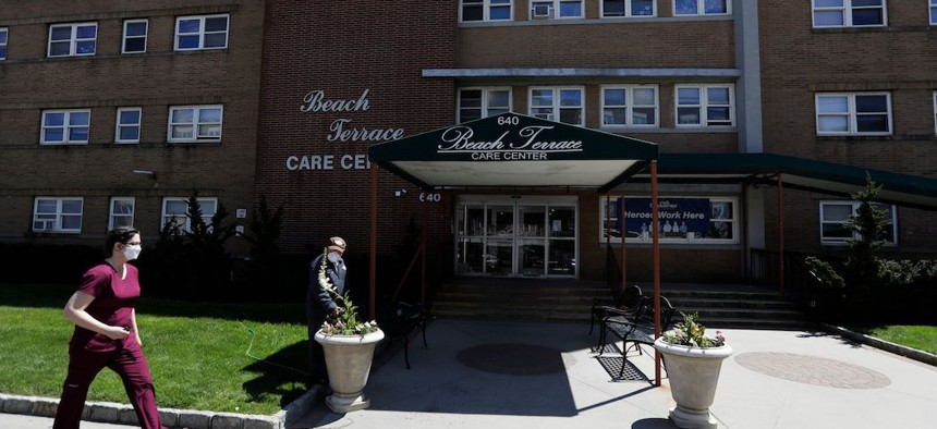 The Beach Terrace Nursing Home in Long Beach, New York.