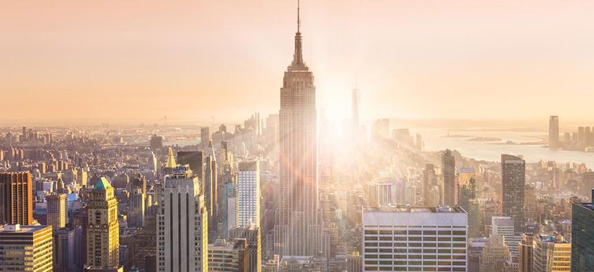 New York City's skyline.