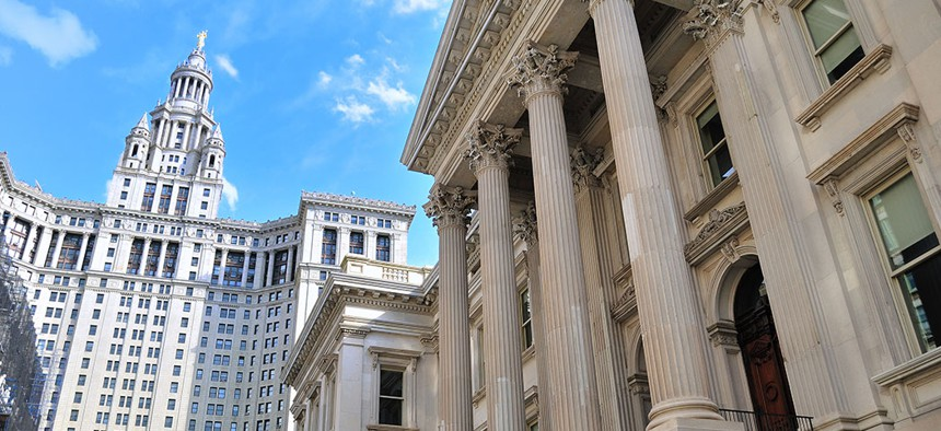 Tweed Courthouse and Municipal Building in NYC.