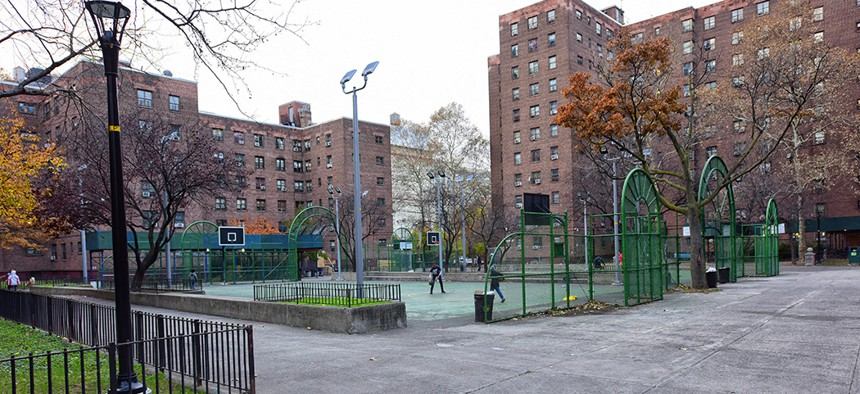 New York City Housing Authority residences in Brooklyn.
