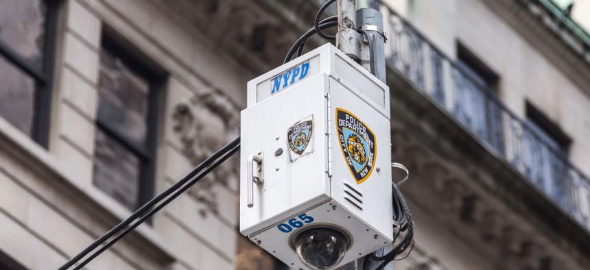 NYPD surveillance camera.
