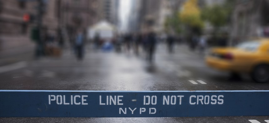 NYPD police line