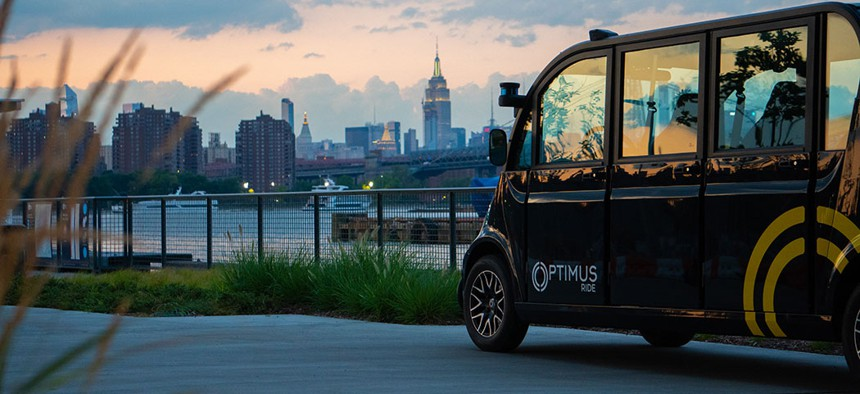 Optimus Ride's Navy Yard shuttle service takes things slow.