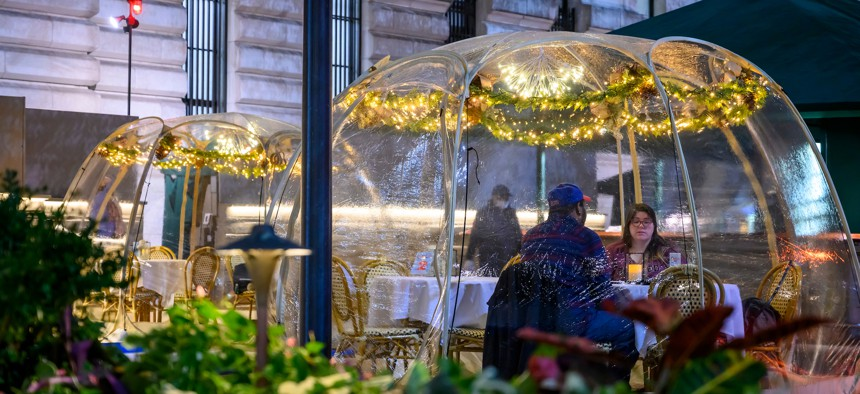 The state will allow indoor dining to resume on Friday in New York City.