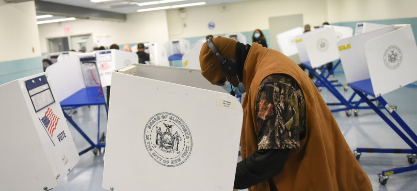 A polling place in South Ozone Park in Queens.