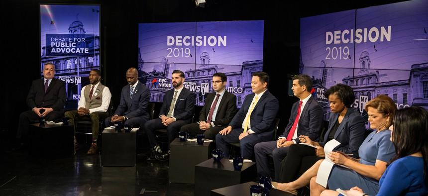 NYC public advocate debate pool photo