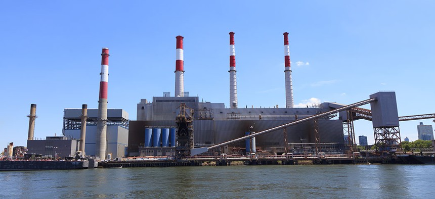 An electric power plant located in Queens.