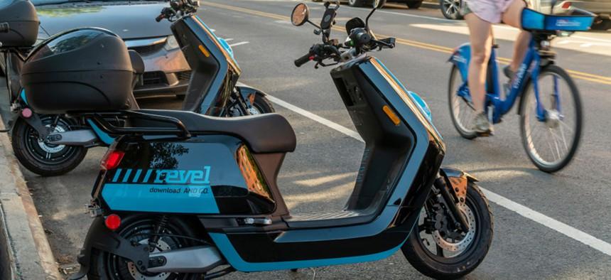 Revel scooter.